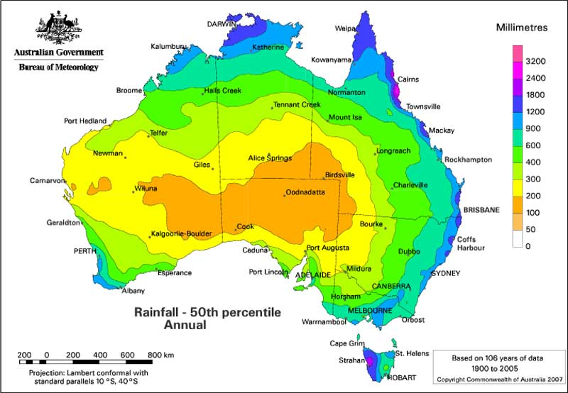 Australia Map Climate.Climatic Extremes Geoscience Australia