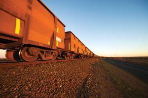 Iron Ore Train Cars close up