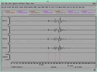 Infrasonic recording of a large (9000 kg) mining explosion (courtesy of CMR Infrasound Waveform Library)