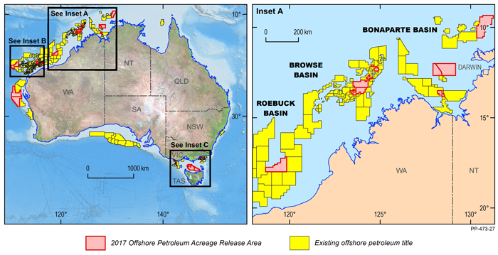 Map Of Australia 2017.New Offshore Areas Released For Petroleum Exploration In