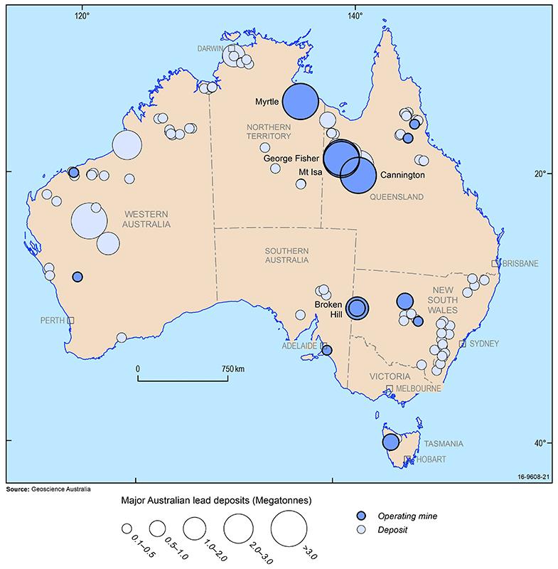 Map Of Australia 2016.Lead Geoscience Australia