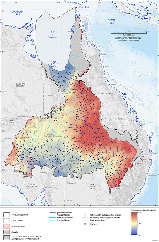 Map Of Australia Great Artesian Basin.Navigating Australia S Largest Groundwater Resource Geoscience