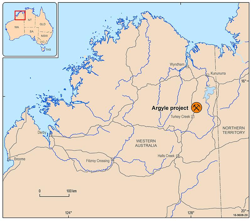 Australia Map Location.Diamond Geoscience Australia